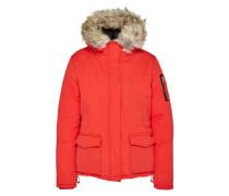Winterjacke mit Fake Fur-Kragen rot