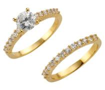 Ring-Set (2tlg.) gold