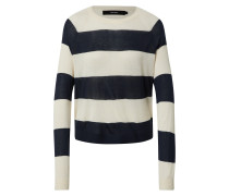 Pullover 'vmlina' blau / weiß