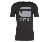 T-Shirt 'Drillon' hellgrau / schwarz