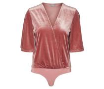 Samt-Bodystocking pink