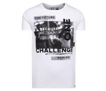 Do-Ver T-Shirt mit Print Artwork weiß