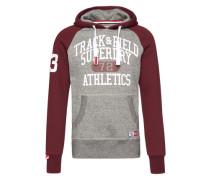 Sweatshirt 'Trackster Baseball Hood' grau