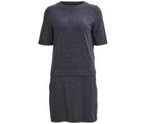 Baumwollkleid mit Rundhalsausschnitt blau / dunkelblau