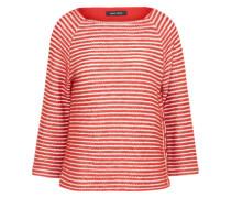 Shirt mit 3/4-Ärmel rot / weiß