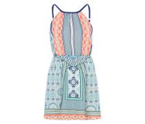 Sommerkleid mit Allover-Print blau