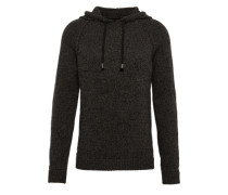 Pullover 'hood String Knit' anthrazit