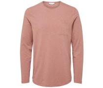 T-Shirt Rundhalsausschnitt- braun