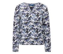Shirt / Blouse gemusterte Bluse blau / weiß