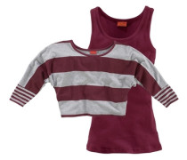 Shirt & Top (Set 2-tlg.) grau / bordeaux