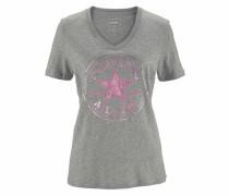 V-Shirt graumeliert