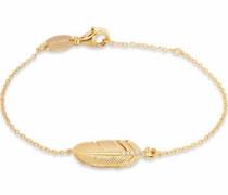 Armband 'Feder Erb-Lilfeder-Zi-G' gold