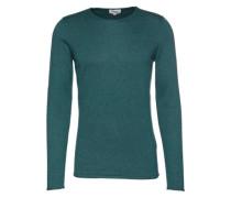 Pullover 'fine melange basic pullover' smaragd