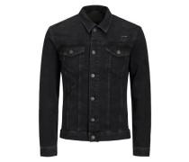 Zerrissene Jeansjacke schwarz
