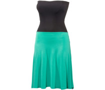 Wash Dress Bandeaukleid Damen jade / schwarz