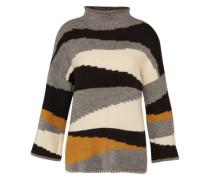 Oversized Pullover 'Vitotem' grau / schwarz / weiß