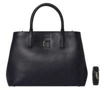 Tasche 'TH Twist Leather Small Tote' schwarz