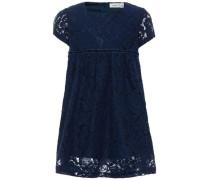 Kleid Kurzarm-Spitzen nachtblau