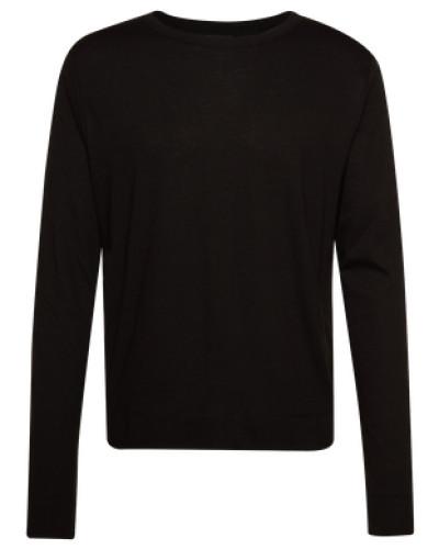 Basic-Shirt mit verlängertem Rücken 'Trasher' schwarz