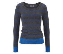 Pullover 'Ellenbogen Patches' blau / grau