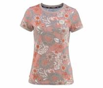 T-Shirt grau / rosa / hellrot