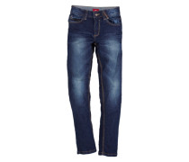 Dunkle Stretch-Denim 'Skinny Seattle' marine
