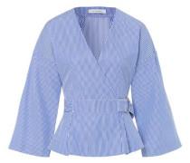 Top Wrap-Around Blouse blau