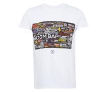 T-Shirt 'rock Hard TEE Crew R-Neck' gelb / rot / schwarz / weiß