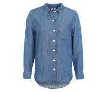 Boyfriend-Hemd aus Denim blau