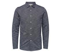 Poloshirt Regular Fit blaumeliert