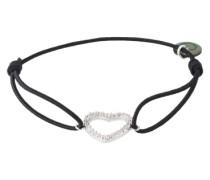 Armband 'Heart' schwarz / silber