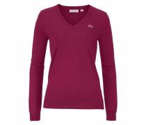 V-Ausschnitt-Pullover bordeaux