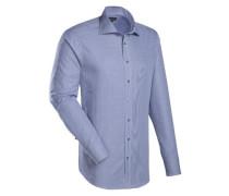 City-Hemd ' Brown Label ' blau