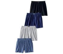 Boxer (4 Stück) marine / navy / grau / schwarz