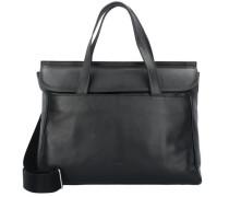 'Stockholm 45' Handtasche Leder 38 cm Laptopfach