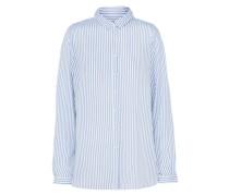Bluse im Stripes-Design hellblau / weiß