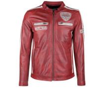 Lederjacke Silverstone rot