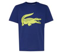 T-Shirt mit Front-Print dunkelblau / gelb