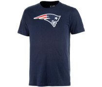 T-Shirt 'New England Patriots' navy / rot / weiß