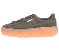 Platform Trace Sneaker oliv / koralle