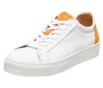 Leder Sneaker orange / weiß