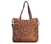 'Echinacea Shopper' Tasche 33 cm braun