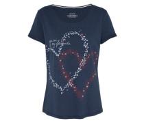 T-Shirt 'valentine' navy