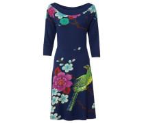 Jerseykleid mit Pailletten türkis / dunkelblau / hellgrün / dunkelpink