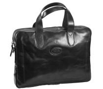 Sfoderata Luxe Uomo Aktentasche Leder 40 cm Laptopfach schwarz