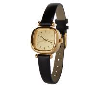 Armbanduhr 'Moneypenny' gold / schwarz