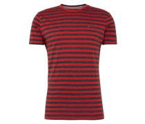 T-Shirt in Ringel-Muster dunkelblau / rot