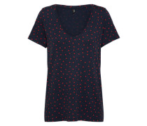 T-Shirt 'lMOJO' nachtblau / rot