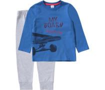 Schlafanzug für Jungen blau / grau