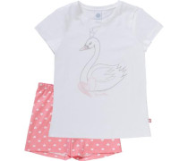 Schlafanzug rosa / weiß
